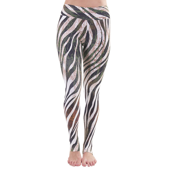 Extra Long Patterned Yoga Legging Into The Wild