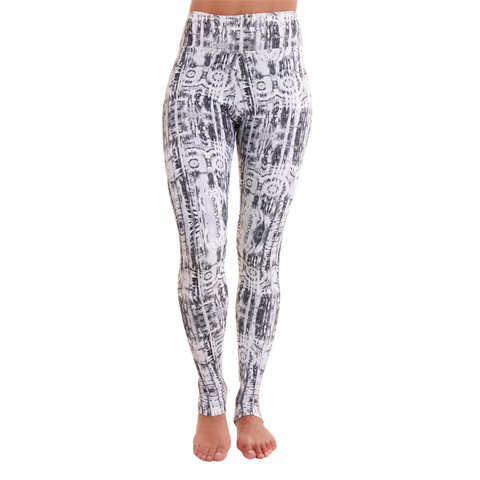 Extra Long Patterned Yoga Legging Black Mamba