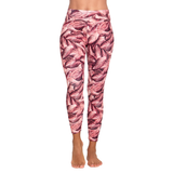 Patterned Yoga Legging Flamingo