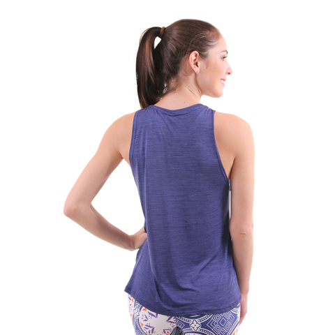Mermaid Vibes Muscle Tank III Navy
