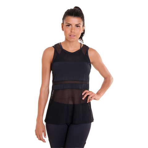 Bee Hive Tank Top II Black