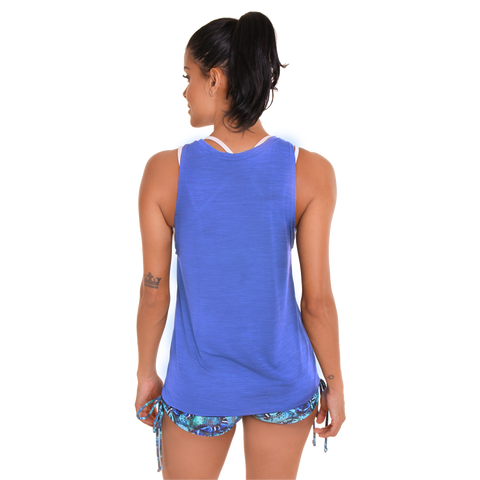Stop Stopping Yourself Muscle Tank III Royal Blue