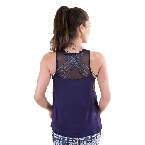 Grace Mesh Tank Navy (Final Sale)