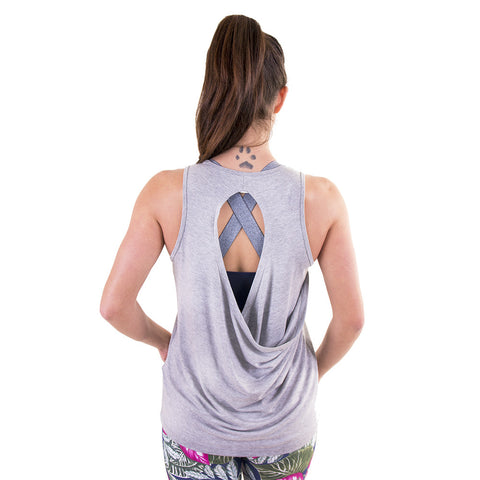 Shine Like Gold Raindrop Tank Light Grey (Final Sale)