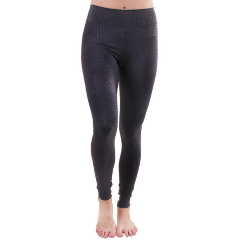 Sleek Addiction Extra Long Legging Snake Black