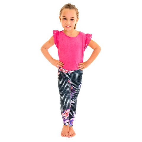Mini Me Patterned Yoga Legging Dotted Illusion