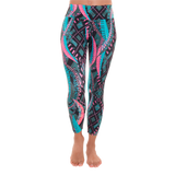 Patterned Yoga Legging Psychodelic