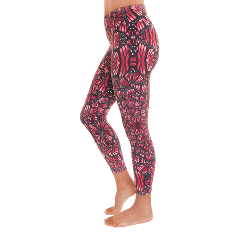 Patterned Yoga Legging Butterfly Wings