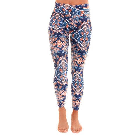 Patterned Yoga Legging Tribe at Night