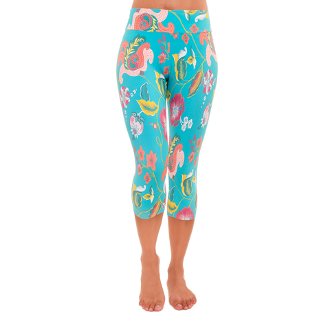 Capri Patterned Yoga Legging Tenderness