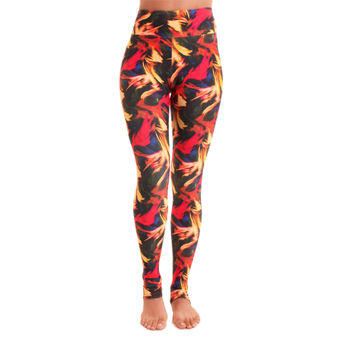 Extra Long Patterned Yoga Legging Light in the Dark