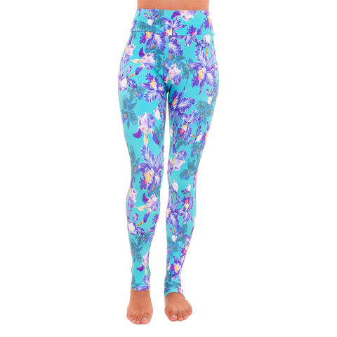 Extra Long Patterned Yoga Legging Young Crush