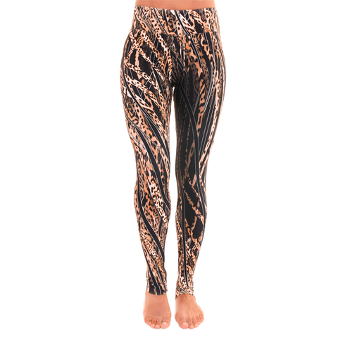 Extra Long Patterned Yoga Legging Wildcat