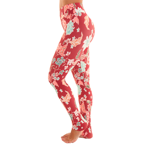 Extra Long Patterned Yoga Legging Endless Love