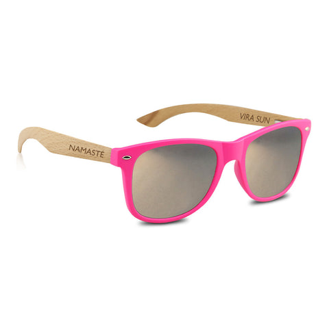 Hot Pink + Silver Mirror Sunnies