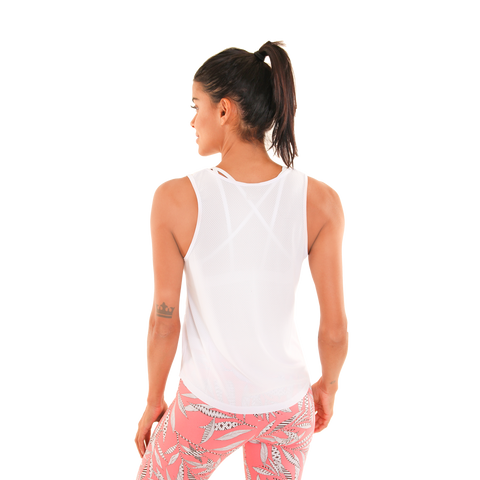 Basic Racer White Tank