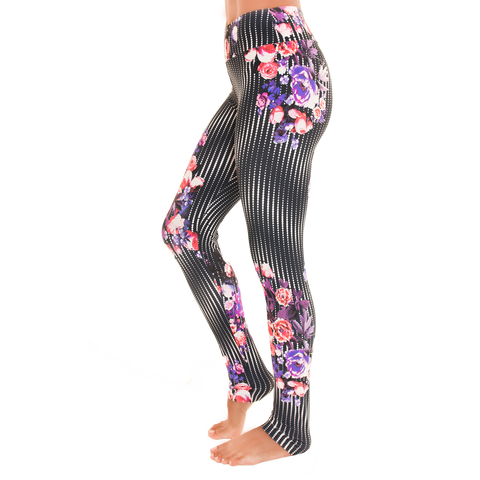 Extra Long Patterned Yoga Legging Dotted Illusion