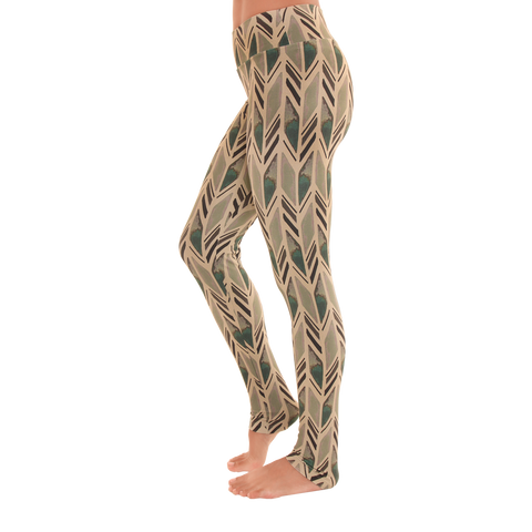 Extra Long Patterned Yoga Legging Tiled Serenity