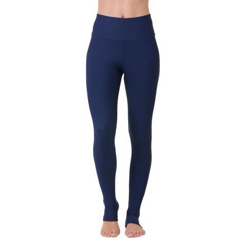 Solid Yoga Extra Long Legging Navy