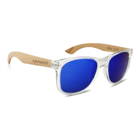 Clear + Blue Mirror Sunnies