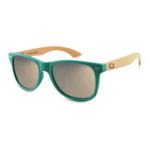 Teal + Silver Mirror Sunnies