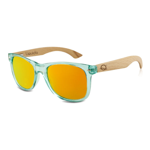 Translucent Green + Orange Mirror Sunnies