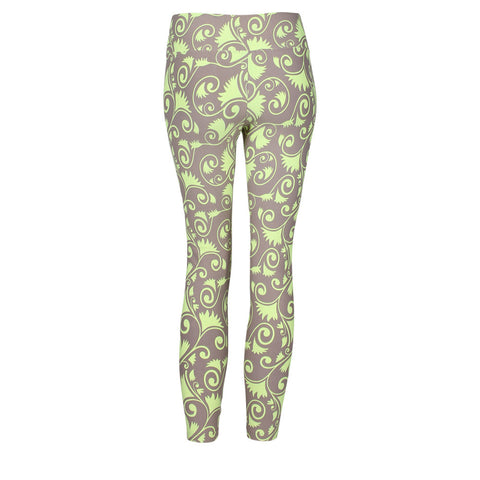 Patterned Yoga Legging Scrollwork