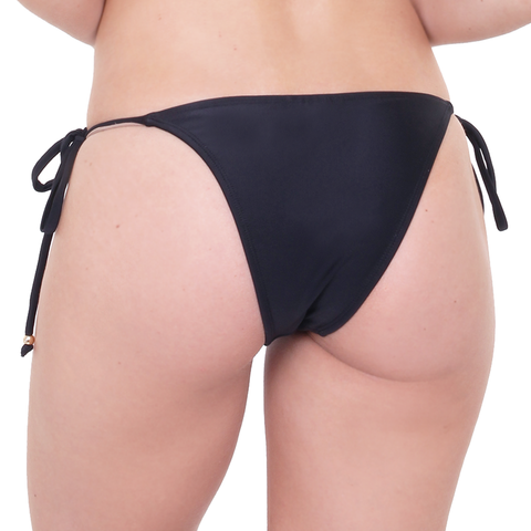 Tie Side Black Bikini Bottom (Final Sale)