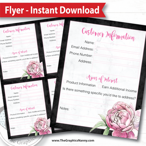 Instant Download - Forms - Customer Contact Form