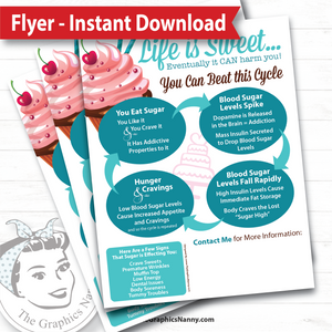Instant Download - Flyer - Cravings