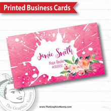 Load image into Gallery viewer, Business Card - Pink Splash