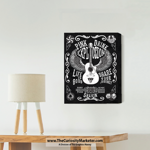 Wall Art - Canvas Gallery Wrap - Pourin Shakin Drinkin