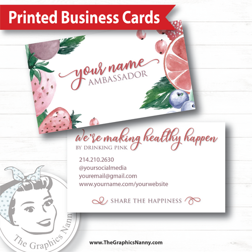 Business Card - Share the Happiness