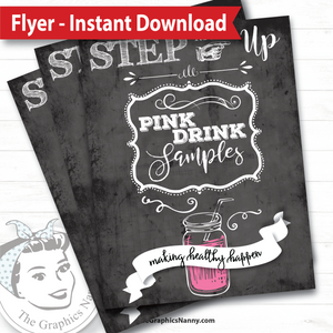 Instant Download - Flyer - Step Right Up