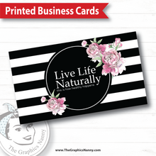 Load image into Gallery viewer, Business Card - Stripes and Roses
