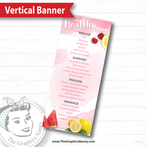 Vertical Banner - Watercolor