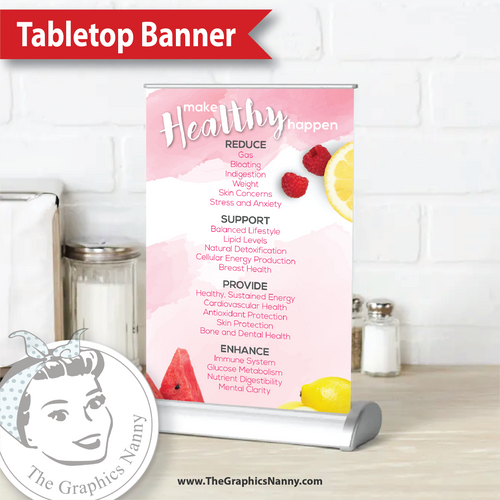 Tabletop Banner - Watercolor