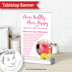 Tabletop Banner - White Barnwood