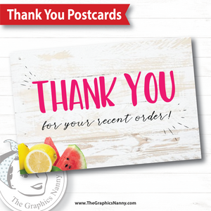 Thank You Postcard - White Barnwood