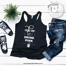 Load image into Gallery viewer, Ask Me - Tank Top - Vintage Black