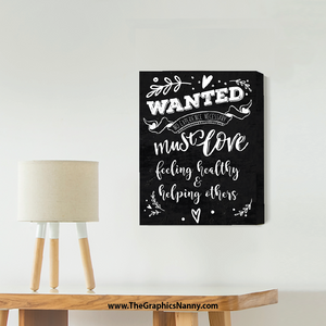 Wall Art - Canvas Gallery Wrap - Wanted