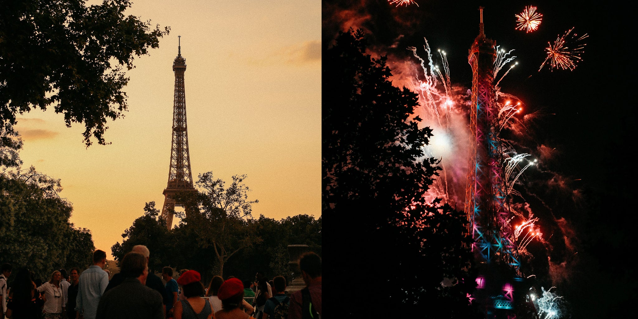 The Eiffel Tower fireworks shot by Nicole Breanne