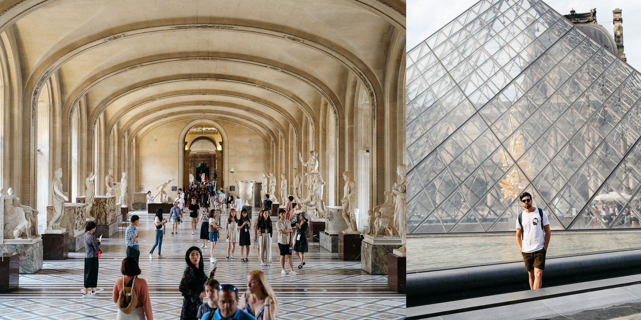 Le Louvre in Paris with Nicole Breanne and Lucas Young