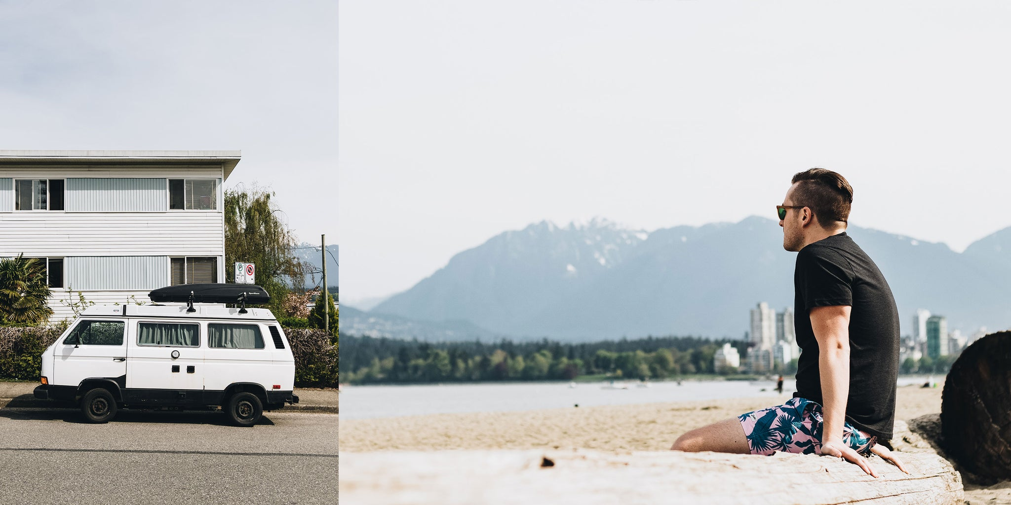 Kitsilano Beach, or Kits beach, in Vancouver with Brandon Lind for Bather