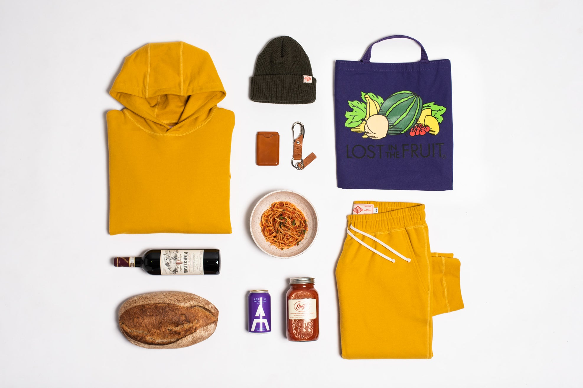 Flat lay image of our Bodega Benefactor gift guide items