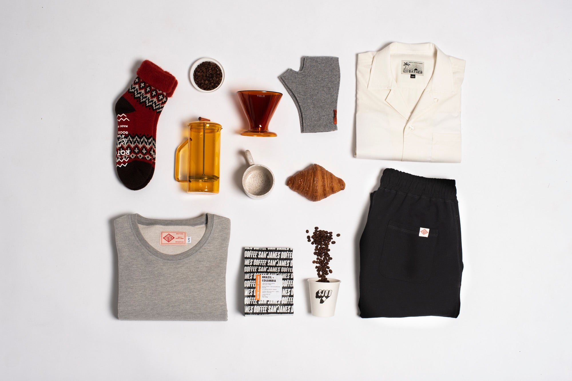 Flat lay image of our Home Brewer gift guide products