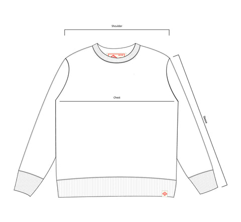 Bather sweatshirt technical drawing