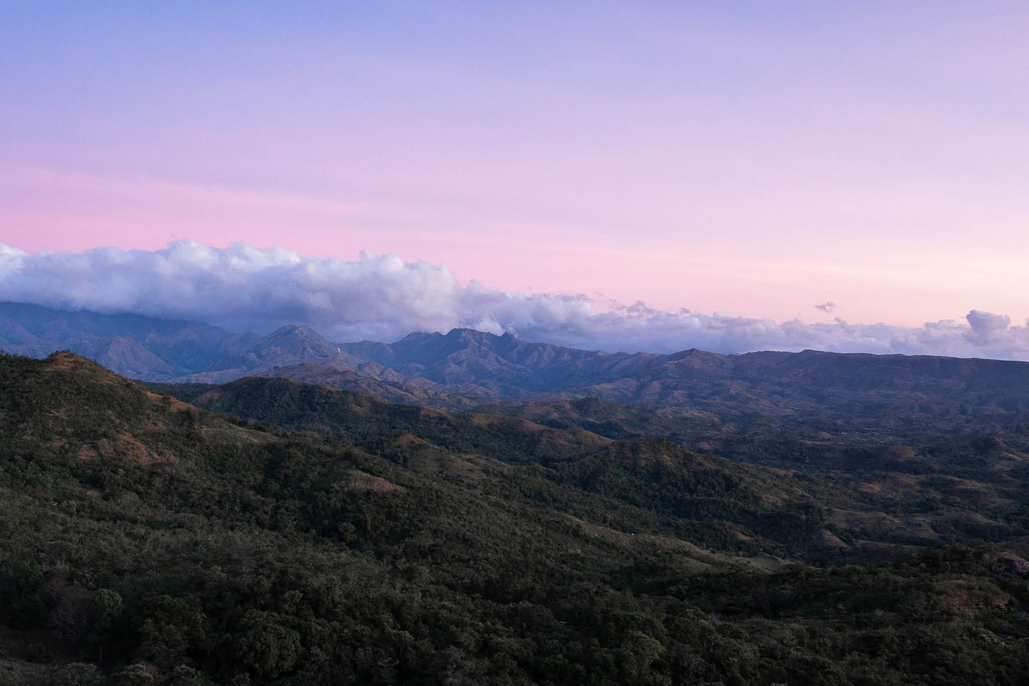 Mountains and sunset in Panama