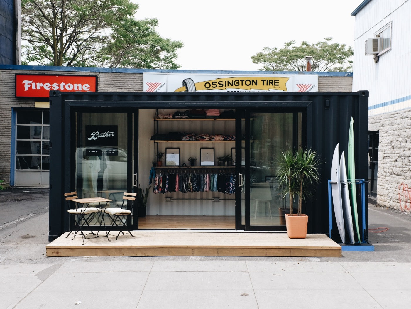 Bather's Container Pop-Up in Toronto
