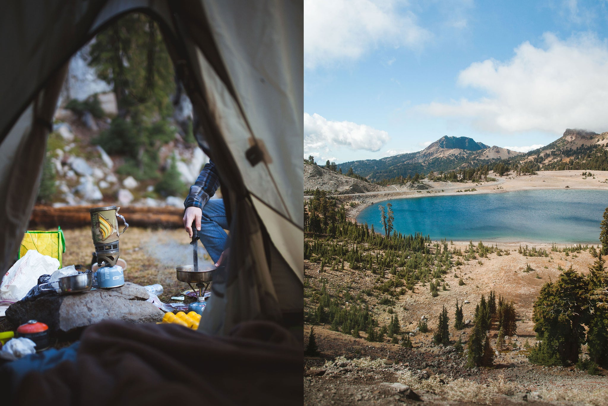 Camping trips in Lassen Park for Bather's Excellent Adventures travel series